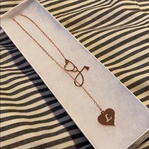 NWOT Rose Gold L Nurse Necklace